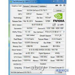 Gaming Nvidia Geforce GTX 750Ti 4GB 128Bit GDDR5 Low Profile PCIe Graphics Card
