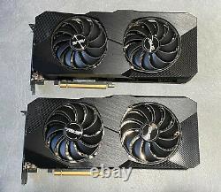 LOT OF 2 ASUS Radeon RX 5700 XT Dual EVO OC Dual-Fan 8GB GDDR6 PCIe 4.0 GPU