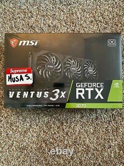 MSI NVIDIA GeForce RTX 3070 VENTUS 3X 8GB GDDR6 PCI Express 4.0 GPU FREE SHIP