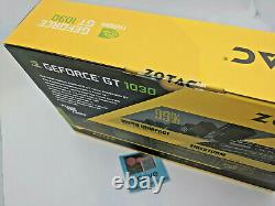 New ZOTAC GeForce GT 1030 2GB GDDR5 PCIe Graphics Card with Low Profile Bracket