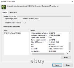 Nvidia GeForce RTX 3060 12GB GDDR6 PCIe 4.0 GPU Video Card OEM 3584 CUDA