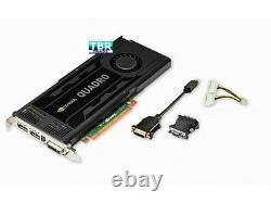 PNY NVIDIA Quadro K4000 3GB GPU Workstation Video Graphics card GDDR5 PCIe