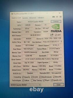 PNY NVIDIA Quadro M6000 12GB GDDR5 PCIe Video Graphics Card GPU DVI DP 4K